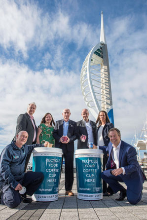 Gunwharf Quays to lead the way for coffee cup recycling in Portsmouth