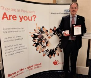 EAT REAL sales manager reaches blood donor milestone