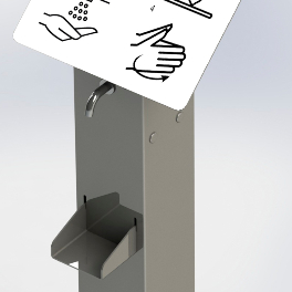 Foot-operated hand sanitiser dispenser suitable for every location