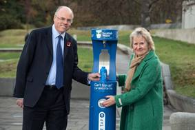 High-tech public bottle refill stations debut at Scottish Parliament
