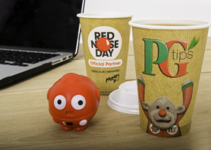 Benders Design Exclusive Red Nose Day Paper Cups for Unilever